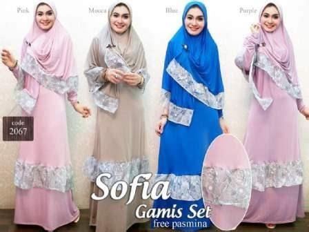 Batik Gamis Sofia gamis sofia 2067 grosir tanah abang baju import