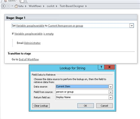 sharepoint workflow variables workflow condition assigned to is not empty