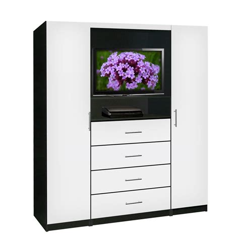 White Tv Armoire by Aventa Bedroom Tv Armoire Contempo Space