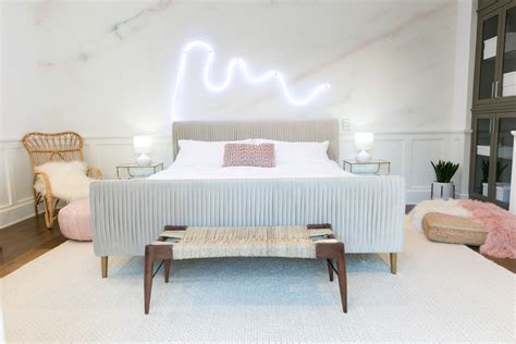 Feminine Home Decor by Mr Kate Palm Springs Pastel Bedroom Makeover For Alisha