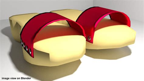 Ring Terompah terompah malaysia wooden shoes 3d model obj lwo lw