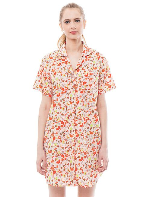 Baju Tidur Daster Wanita Daun Daun Import pajamalovers leaf klikindomaret