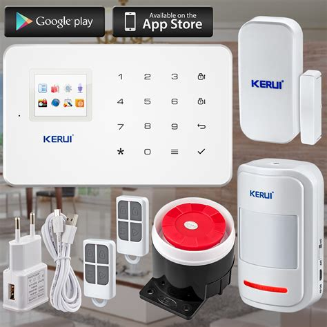 kerui factory g18 android iso app wireless gsm home alarm