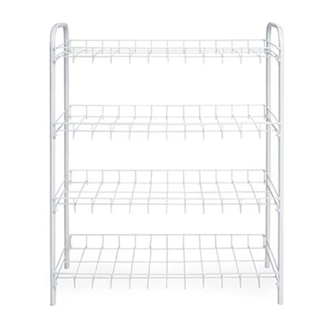 4 Tier Wire Shoe Rack by View 4 Tier White Wire Shoe Rack Deals At Big Lots