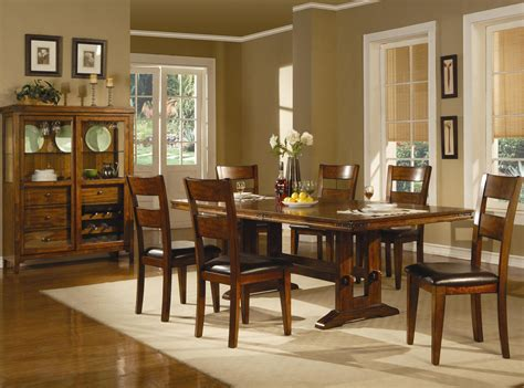 Casual Dining Room Looks Coaster Lavista 102151 102152 Brown Wood Dining Table Set