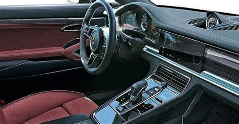 porsche panamera interior 2017 2017 porsche panamera interior revealed in leaked image