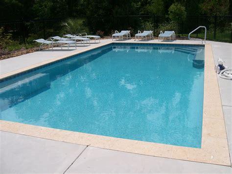 stamped border concrete pool deck