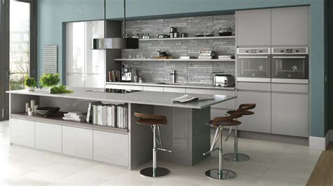 grey gloss kitchen cabinets gloss kitchen in grey gloss handleless kitchen shown in