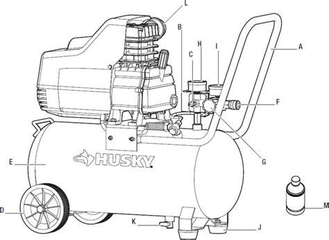 husky 8 gallon portable air compressor ta 2530b parts