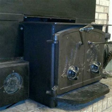 Fisher Style Wood Stove BOSS Steel w/bricks by Thermolater