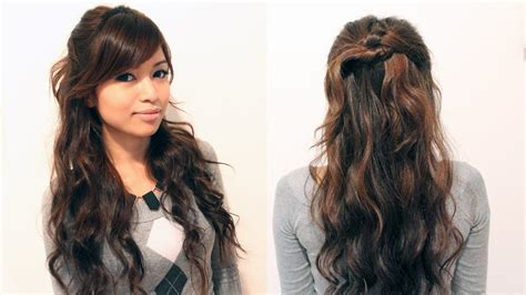 easy holiday curly  updo hairstyle  medium long