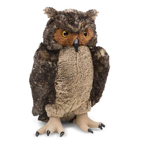 owl stuffed animal lifelike plush owl melissa doug