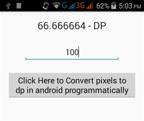 android set layout height in dp show convert pixels to dp in android programmatically