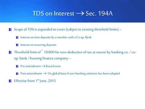 section 194a budget 2015 direct tax