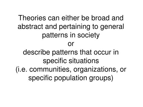 general pattern theory ppt theory in community organization powerpoint