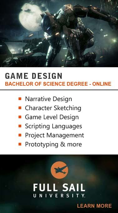 Game Design Degree Online | training and development game developer education and