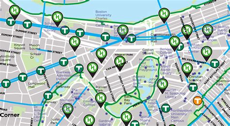 hubway map ride your bike to fenway park boston sox