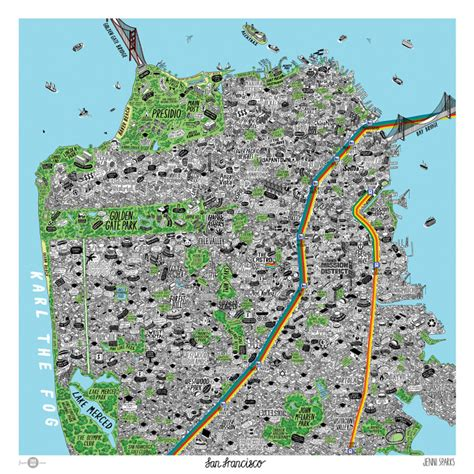 sparks san francisco map map shows san francisco in all its swirling