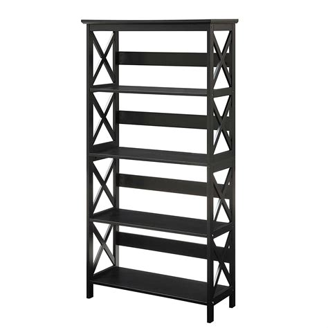 black 5 shelf bookcase glossy black 5 shelf bookcase fastfurnishings com