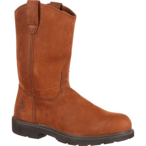 george boots boot s pull on steel toe work boots g4673