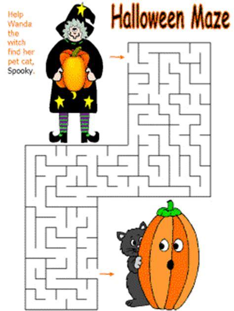 printable halloween maze worksheets halloween maze printable festival collections