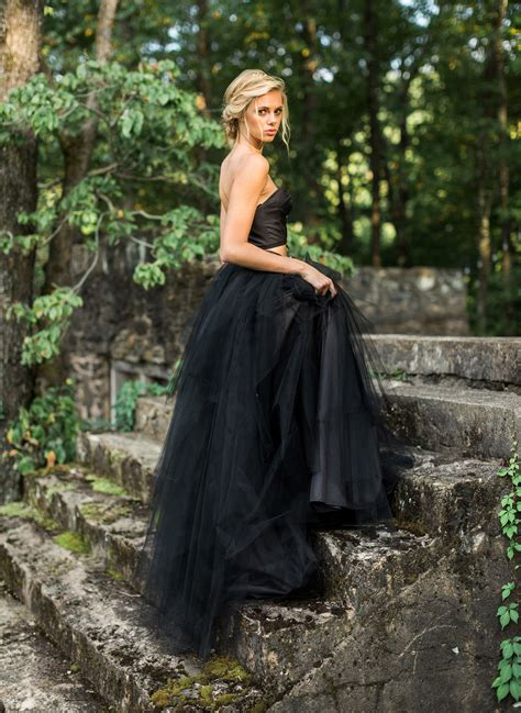 paint it black our favorite black wedding dresses