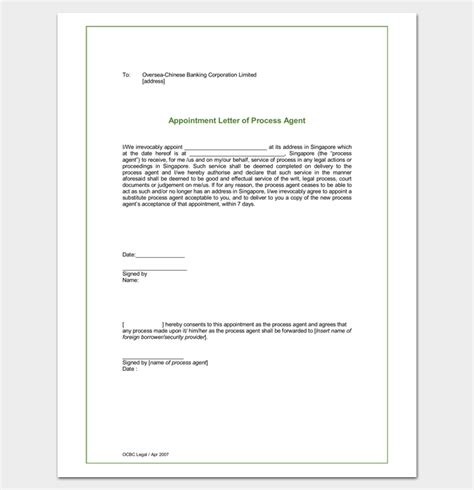 appointment letter template pdf sle process appointment letter format letter