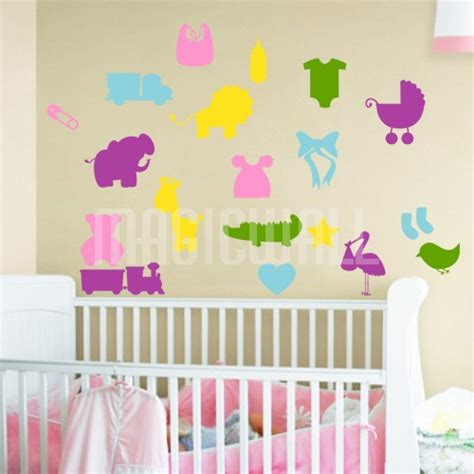 Wall Sticker Baby Shower wall decals baby shower nursery wall stickers