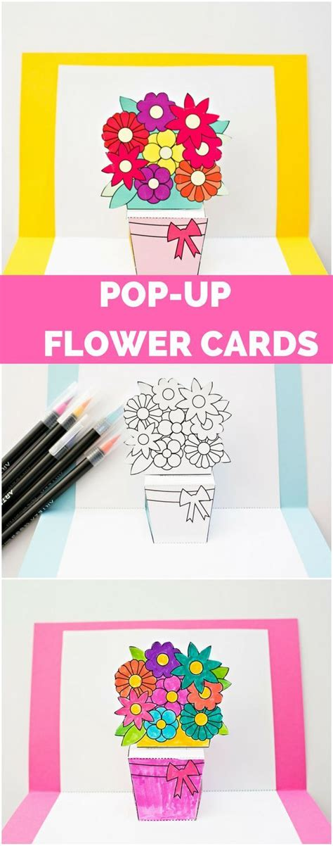 pop up card flower basket template 351 best activity ideas images on day