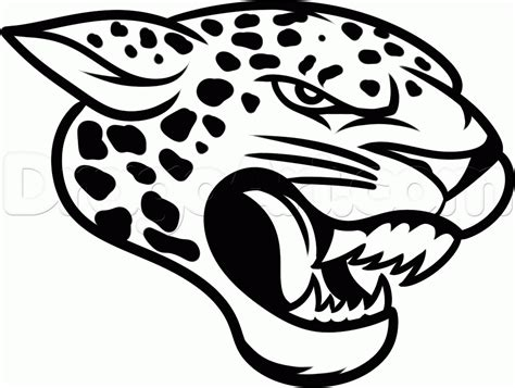 Drawing Of A Jaguar How To Draw The Jacksonville Jaguars Step 11 1