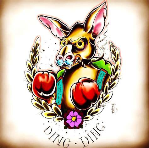 traditional designs neo traditional kangaroo tattoo design