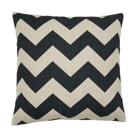Cushion Bantal Sofa Black Chevron grand black chevron cushion cover 1