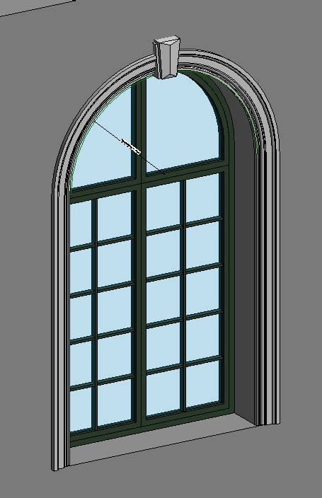 revitcitycom arched window  head height parameter