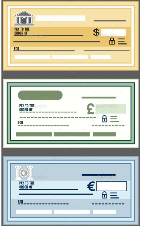 editable blank check template cheque templates free word psd pdf format