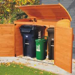 wood garbage can storage shed sogadget