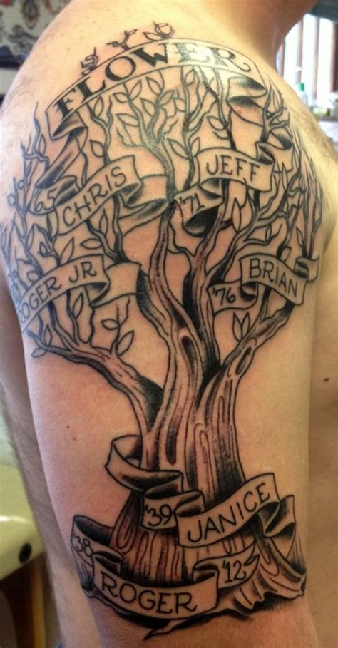 family sleeve tattoo family tree sleeve family tree tattoos