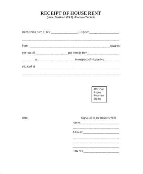 house payment sle receipt of payment form 7 free documents in pdf