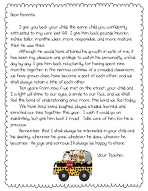 thank you letter from parents to kindergarten end of the year parent letter by randi teachers pay teachers