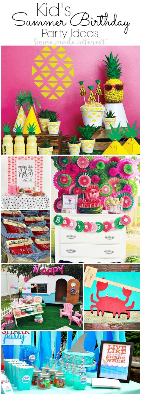summer birthday party themes homemade summer birthday party ideas for kids home made interest
