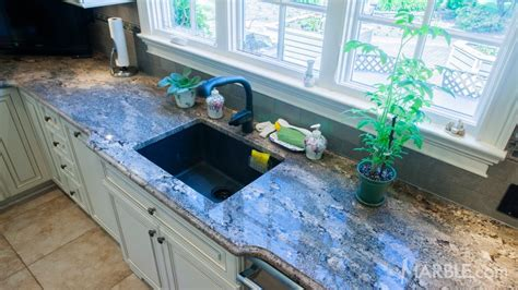 Blue Kitchen Countertops Baltic Blue Granite Kitchen Countertops