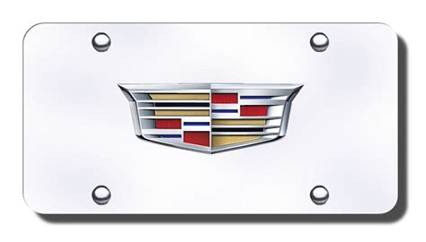 Cadillac Vanity Plates by Cadillac Newest Chrome Logo License Plate Cadillac
