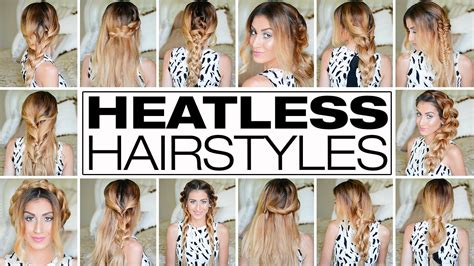 heatless hairstyles for picture day 23 outrageously easy 3 minute heatless hairstyles youtube