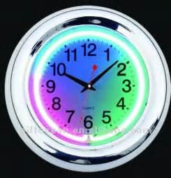 color clock 3 colors neon light wall clock decorative neon wall clock