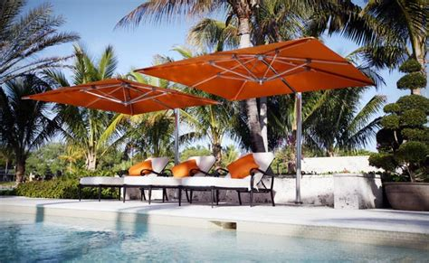 Patio Umbrellas Miami Tuuci Single Cantilever Umbrella