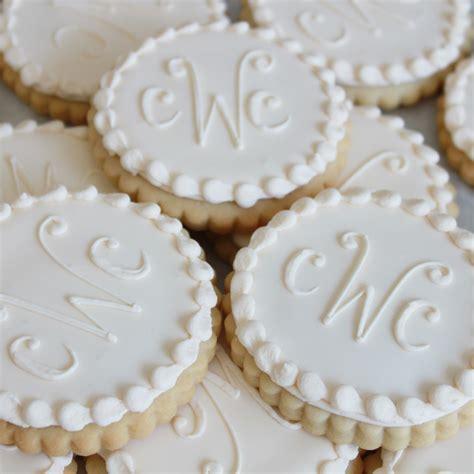 Wedding Favors Cookies by 3 Letter Monogram Cookie Favors Bakeshop