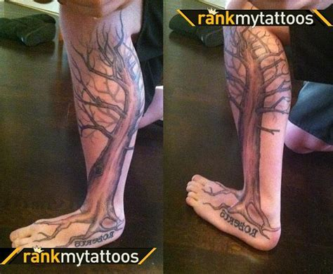 calf tattoo family tree life family tattoo images