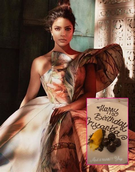 first picture from priyanka chopra s birthday celebration is here and it s overloaded with sweetness first picture from priyanka chopra s birthday celebration