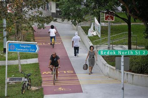 red bike paths open  bedok latest singapore news   paper