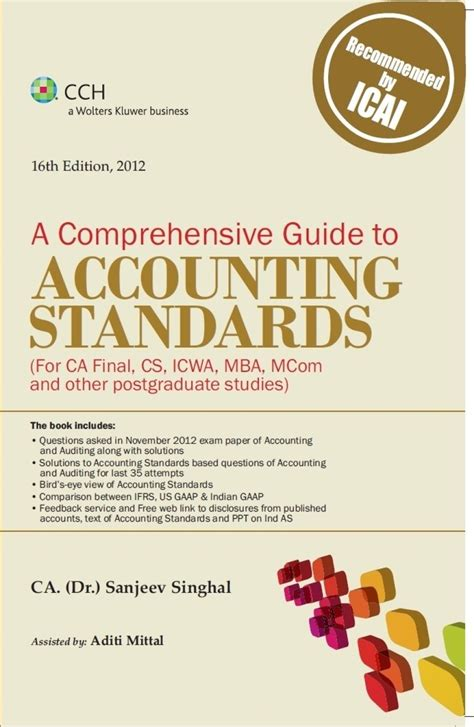 Mba Comprehensive Reviewer by A Comprehensive Guide To Accounting Standards For Ca
