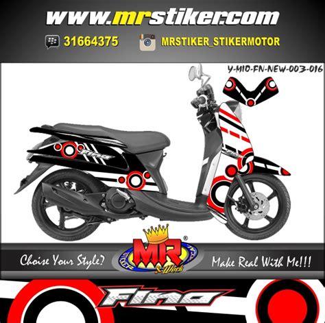 Keranjang Mio Fino mio fino new elegan sporty stiker motor striping motor